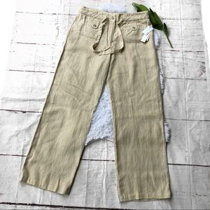 Charter Club Wide Leg Linen Trousers 12